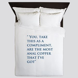 An Oliver Quote Queen Duvet
