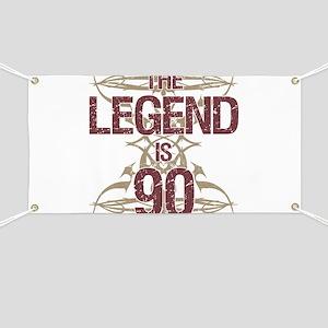 Men's Funny 90th Birthday Banner
