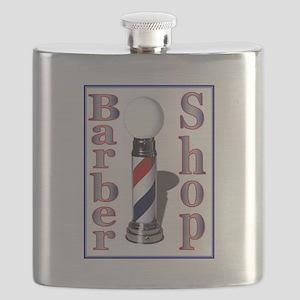 Barber Shop-Blue Flask