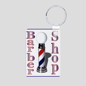 Barber Shop-Blue Keychains