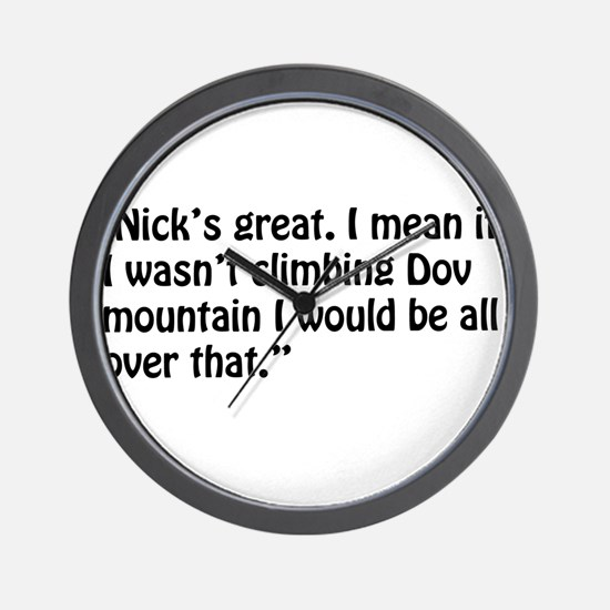A Chloe Quote Wall Clock