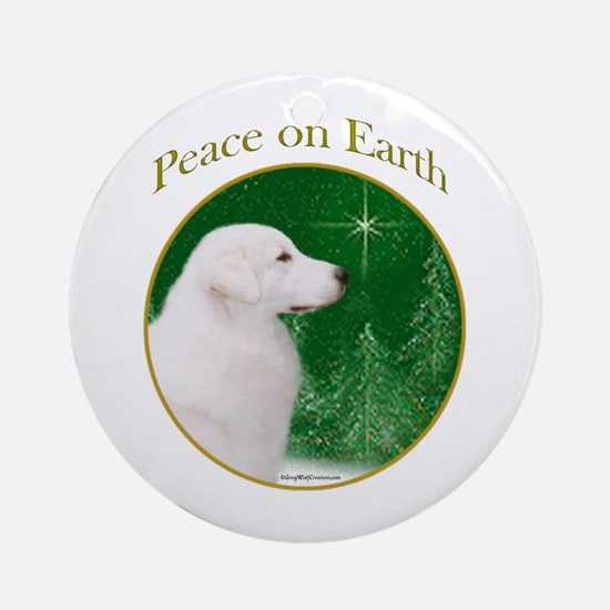 Kuvasz Peace Ornament (Round)