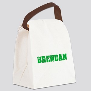 Brendan Name Weathered Green Desi Canvas Lunch Bag