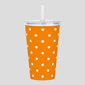 Orange: Polka Dots Pat Acrylic Double-wall Tumbler