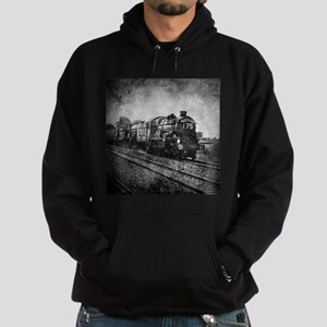 rustic vintage steam train Hoodie (dark)