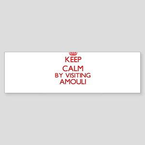 Keep calm by visiting Amouli Samoa Bumper Sticker