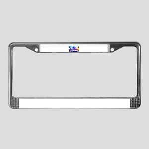 Trucking in America License Plate Frame