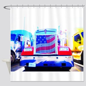Trucking in America Shower Curtain