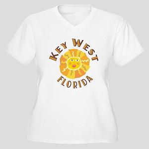 Key West Sun - Women's Plus Size V-Neck T-Shirt