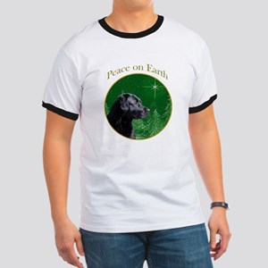 Black Lab Peace Ringer T