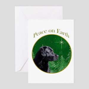 Black Lab Peace Greeting Card