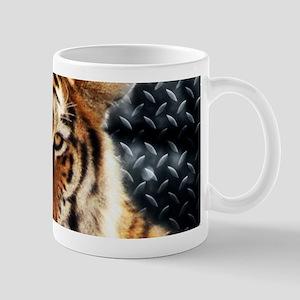 modern grunge cool tiger Mugs