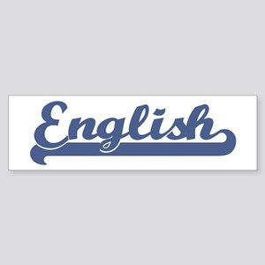 English (sport-blue) Bumper Sticker