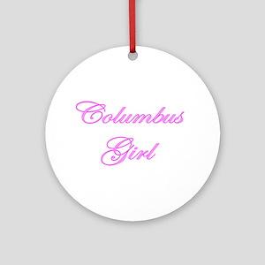 Columbus Girl Ornament (Round)