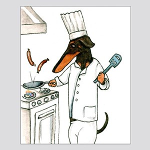 Dachshund Chef Small Poster