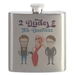 2 Dudes and The Duchess Logo Flask