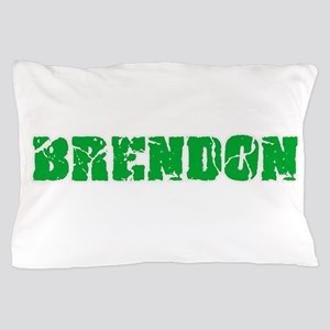 Brendon Name Weathered Green Design Pillow Case