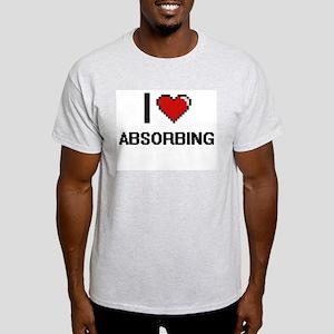 I Love Absorbing Digitial Design T-Shirt