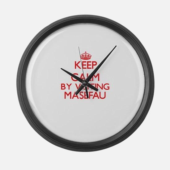 Keep calm by visiting Masefau Sam Large Wall Clock