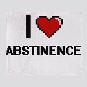 I Love Abstinence Digitial Design Throw Blanket