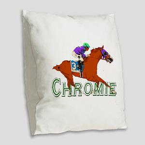 Be a California Chrome Chromie Burlap Throw Pillow