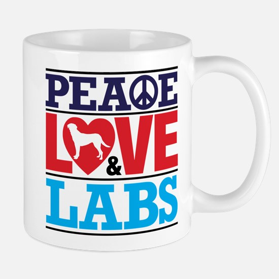 Peace Love and Labs Mugs