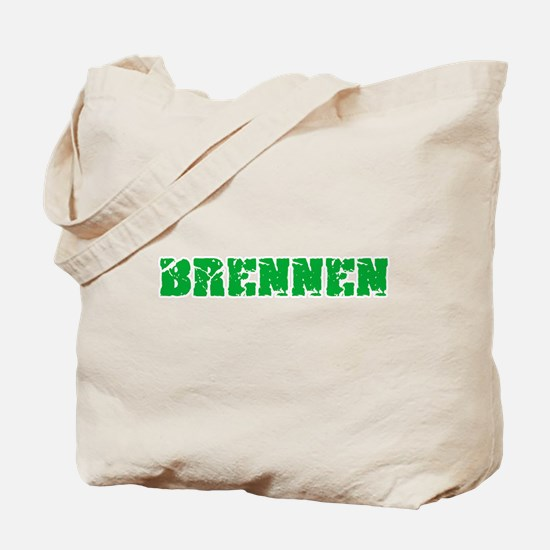 Brennen Name Weathered Green Design Tote Bag