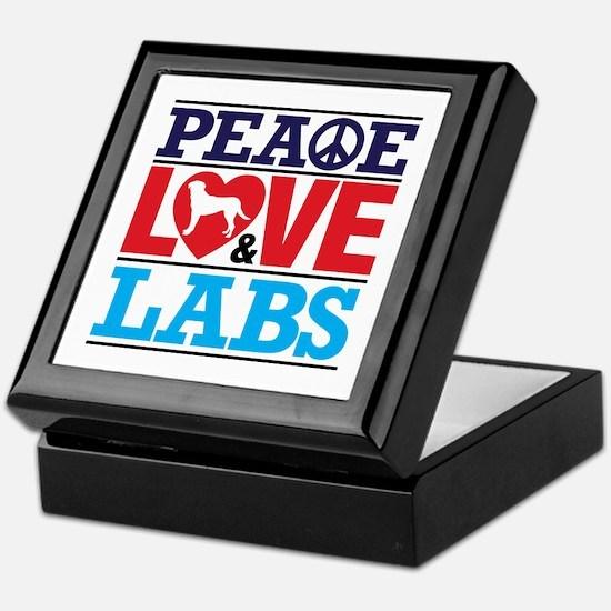 Peace Love And Labs Keepsake Box