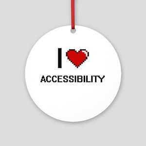 I Love Accessibility Digitial Des Ornament (Round)