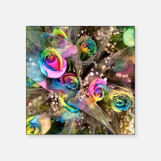 "Gay Bouquet Square Sticker 3"" x 3"""