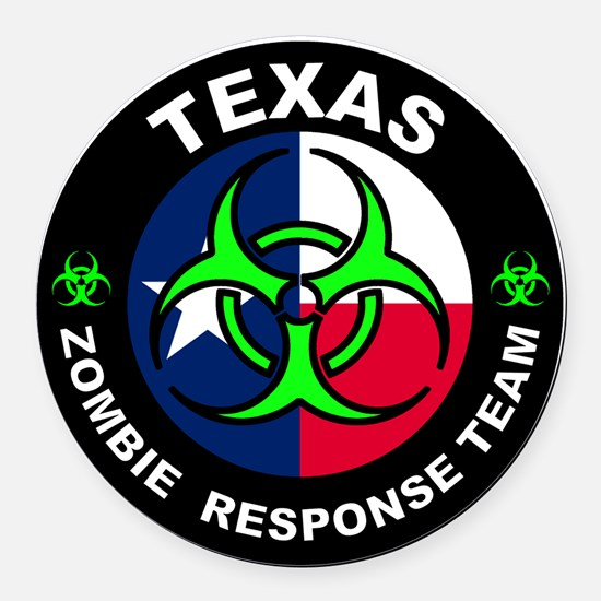 Cute Zombies Round Car Magnet