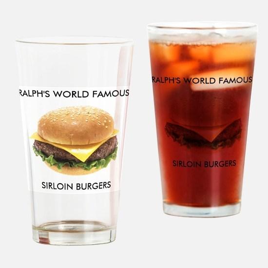 Ralph's World Famous Sirloin Burgers Drinking Glas