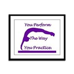 Gymnastics Framed Print - Perform