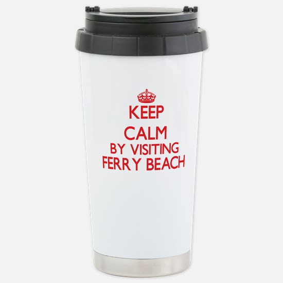 Keep calm by visiting F Stainless Steel Travel Mug