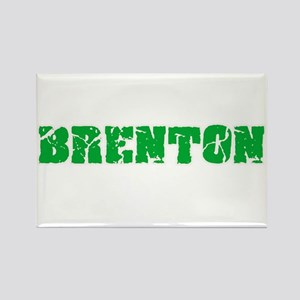 Brenton Name Weathered Green Design Magnets