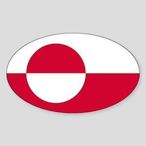 Square Greenland Flag Sticker