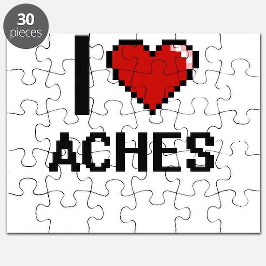 I Love Aches Digitial Design Puzzle