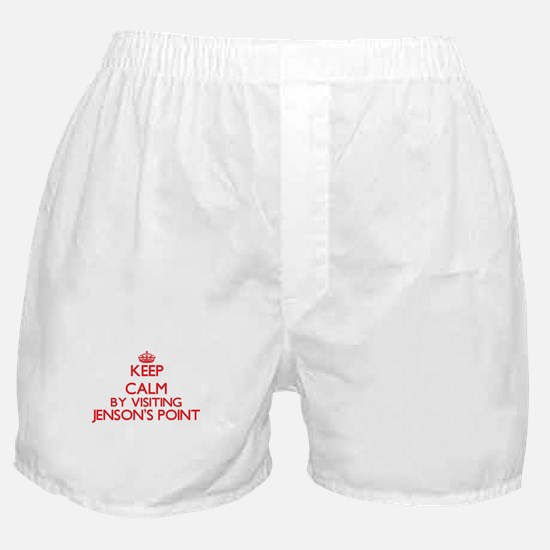 Keep calm by visiting Jenson'S Point Boxer Shorts