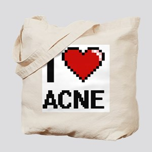 I Love Acne Digitial Design Tote Bag