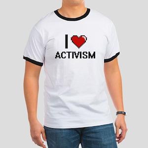 I Love Activism Digitial Design T-Shirt