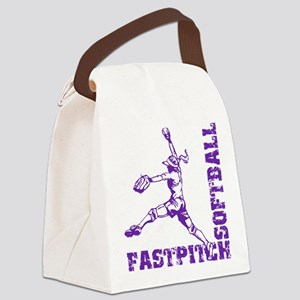 Fastpitch Corner Canvas Lunch Bag