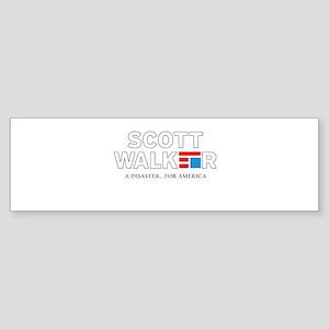 Scott Walker Disaster For America Bumper Sticker