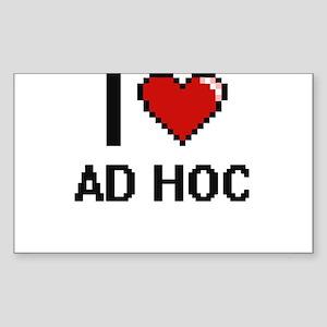 I Love Ad Hoc Digitial Design Sticker
