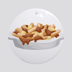 poutine Round Ornament