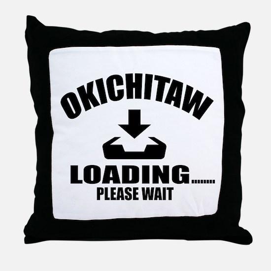 Okichitaw Loading Please Wait Throw Pillow