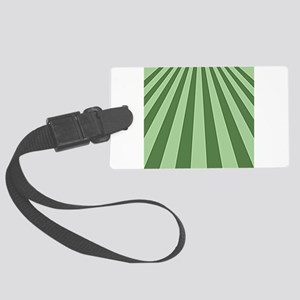 Green on Green Perspective Large Luggage Tag