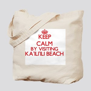 Keep calm by visiting Ka'Ili'Ili Beach Ha Tote Bag