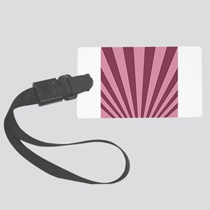 Maroon on Pink Perspective Large Luggage Tag