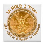Mex Gold w/English motto on Tile Coaster