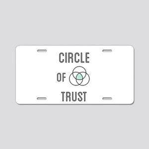 Circle of Trust Aluminum License Plate